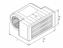 Eberspächer Xeros 8000 Heat exchanger with grille. 12 Volt